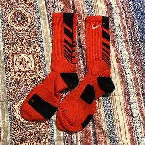 Red Nike elite socks